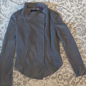 BCBG woman's gray suede jacket